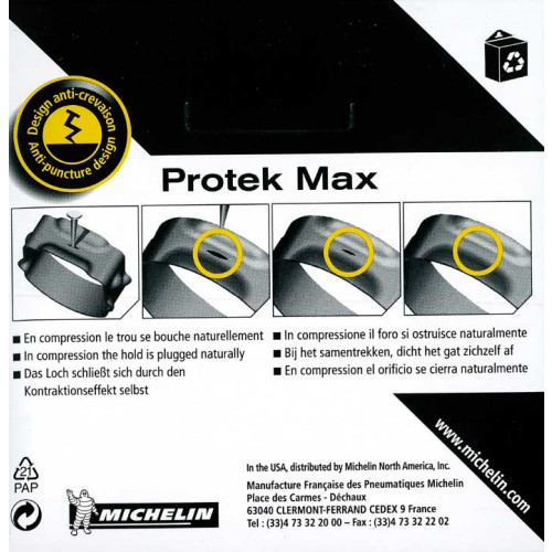 Increvable chambre air michelin protek max 700x32 42c for Chambre a air velo anti crevaison