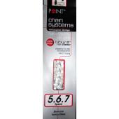 "Chaîne anti corrosion  1/2x3/32"" - 6/7/8 vitesses - 116 maillons - compatible Shimano"