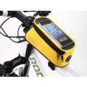 Sacoche de cadre pour smart phone jaune small