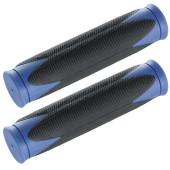 Poignée de cintre noire, bordure bleue