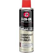 Lubrifiant 3en1 chaîne et câble - aérosol 250ML