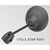 Rétroviseur BUSCH&MULLER Cycle star 901/1, fixation sur cintre et embout de guidon, diamètre 60mm