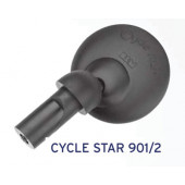 Rétroviseur BUSCH&MULLER Cycle star 901/2, fixation en embout de guidon, diamètre 60mm