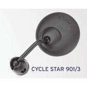 Rétroviseur BUSCH&MULLER Cycle star 901/3, fixation sur cintre et embout de guidon, diamètre 60mm