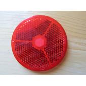 Catadioptre circulaire rouge autocollant