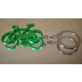 Porte clé vélo vert