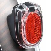 Feu arrière SECULA PLUS BUSCH+MULLER à dynamo, fixation sur garede boue arrière porte-bagages