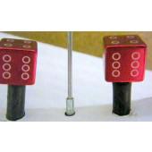 Bouchon de valve en forme de dé rouge