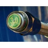 Bouchon de valve schräder - indicateur vert taré à 3 Bar