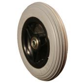 ROUE COMPLETE avec Bandage Plein Greentyre CUB Gris - 6x1 1/4 - 150x32 - ETRTO 32-86