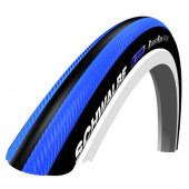 24x1.00 Schwalbe RIGHT RUN Bleu/noir tringle rigide HS387 - ETRTO 25-540