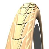 650x35A Pneumatique Schwalbe DELTA CRUISER HS392 Crème - bande réflex - ETRTO 37-590