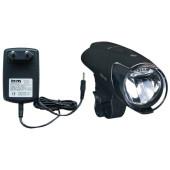 Projecteur avant IXON IQ BUSCH+MULLER rechargeable sur secteur, fixation sur guidon