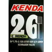Chambre à air KENDA E-READY - 26 Pouces - Valve Schräder (Auto/Moto) 48 mm - ETRTO 47/57-559