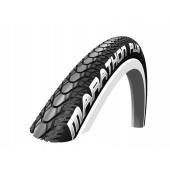 26x1.00 Schwalbe MARATHON PLUS HS440 Noir/Noir Tringle Rigide - ETRTO 25-590