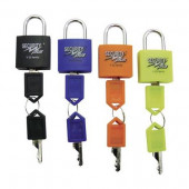 Antivol : set de 4 mini cadenas noir, bleu, orange, fluo