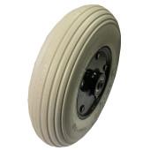 ROUE COMPLETE avec Bandage Plein Greentyre LEO Gris - 8x2 - 200x50 - moyeu largeur 60mm - diamètre 8 mm