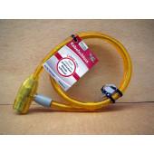 Antivol câble à clé, Point, 80cm, jaune