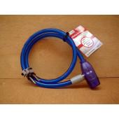 Antivol câble à clé, Point, 80cm, bleu
