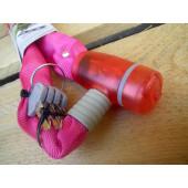 Antivol chaine à clé, Point, 65cm, rose