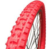 Pneu plein Greentyre TRACKER Rouge - 24x1.75 - largeur intérieure de jante 23 à 25 mm - ETRTO 47-507