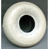 PNEU avec INSERT PLEIN - Ligné GRIS - 2.50-3 - pour jante largeur 42 mm en 2 parties