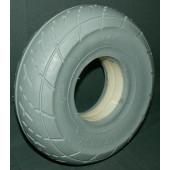 PNEU avec INSERT PLEIN - IS305 - 260x85 - 3.00-4 SEMISLICK 4PR - GRIS - pour jante largeur 55 mm en 2 parties