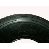 Pneumatique noir ligné 4PR - 4.80/4.00-8 - 400x100 - 150 kg - 6 km/H