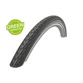 24x1.75 Pneumatique Schwalbe ROAD CRUISER Noir HS484 - Green Compound - Tringle Rigide - ETRTO 47-507