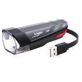 Projecteur avant SPANNINGA TRIGON 25 Lux - rechargeable USB, fixation sur guidon