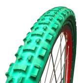 Pneu plein Greentyre TRACKER Vert - 26x1.75 - largeur intérieure de jante 23 à 26 mm - ETRTO 47-559